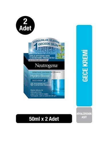 Neutrogena Hydro Boost Gece Kremi 50 Ml X2 Renksiz